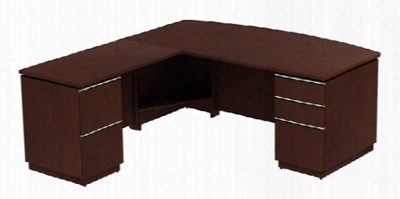 "72""w X 36""d Bowfront L Desk By Bush"