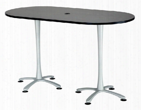 """72""""x36"""", Racetrack Table, Bistro-height By Safco Office Furniture"""
