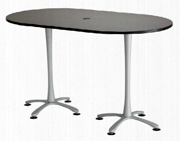"72""x42"", Racetrack Table, Bistro-height By Safco Office Furniture"