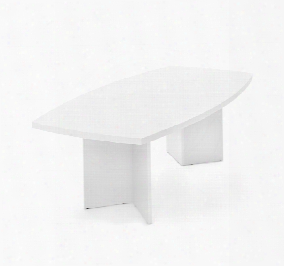 8' Boat-shaped Connference Table By Bestar