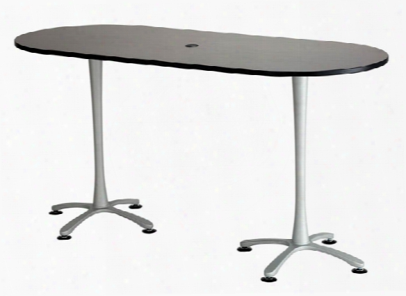 "84""x36"", Racetrack Table, Bistro-height By Safco Office Furniture"