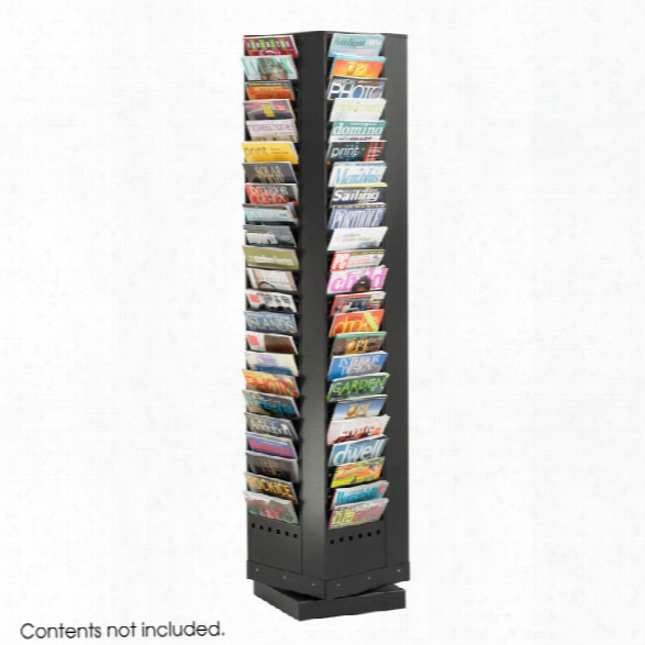 92-pocket Steel Rotary Magazine Rack By Safco Office Furniture