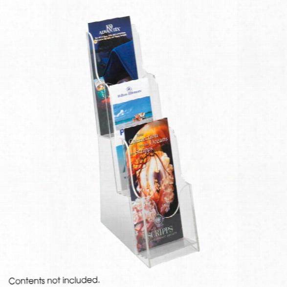 Acrylic 3 Pocket Pamphlet Display By Safco Office Furniture