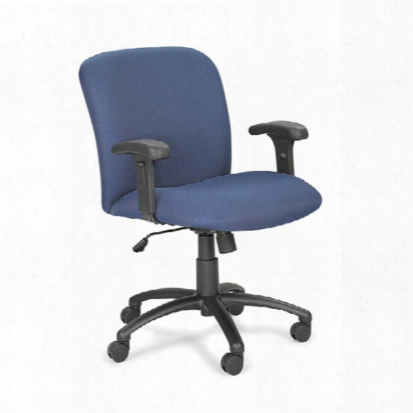 Big And Tall Mid Back Chair With Arms By Safco Office Furniture