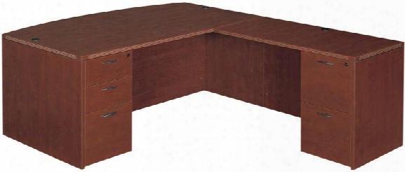 Bow Front L Shaped Desk By Cherryman Furniture