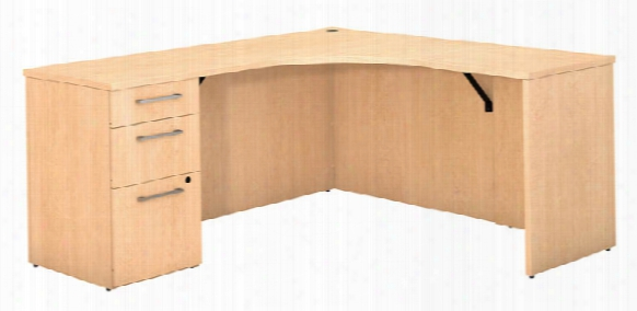 Corner Desk With 3 Drawer Pedestal By Bush