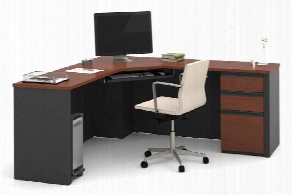 Corner Desk With Pedestal By Bestar