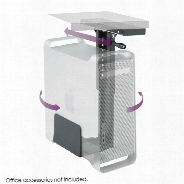 Ergo-comfortã'â® Swivel Mount Cpu Holder By Safco Office Furniture