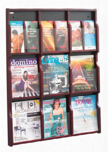 """Exposeâ""""¢ 9 Magazine 18 Pamphlet Display By Safco Office Furniture"""