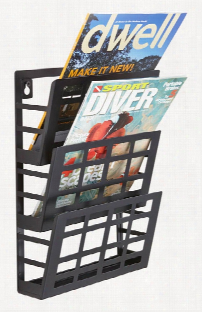 Grid Magazine Rack 3 Pocket By Safco Office Furniture