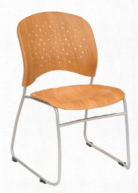 Guest Chair Round Pastic Wood Back (qty. 2) By Safco Office Furniture
