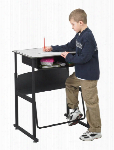 Height Adjustable Student Desk With Book Box By Safco Office Furniture