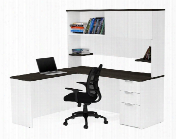 L-shaped Desk With Hutch By Bestar