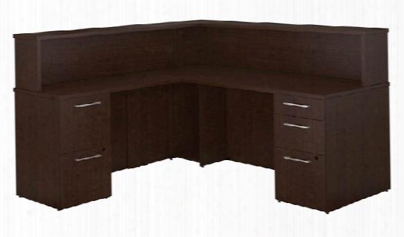 L Shaped Reception Desk With Pedestals By Bush