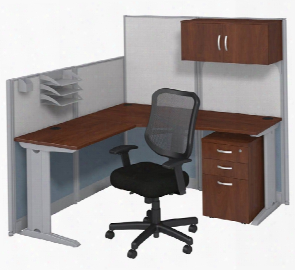 L Workstation With Storage & Chair By Bush