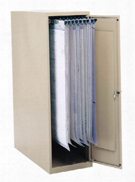 """Large Vertical Storage Cabinet For 18"""", 24"""", 30"""" And 36"""" Hanging Clamps By Safco Office Furniture"""