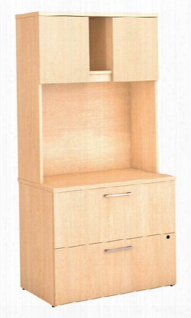 Lateral File Cabinet With Hutch By Bush