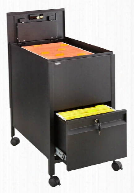 Letter Size Mobile Steel Tub File With Lock And File Drawer By Safco Office Furniture