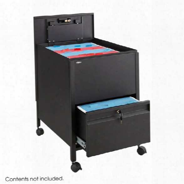 Locking Mobile Tub File With Drawer, Legal Size By Safco Office Furniture