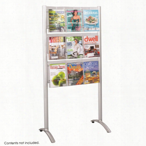 "Luxeâ""¢ Magazine Floor Rack - 9 Pocket By Safco Office Furniture"