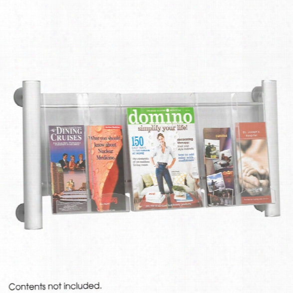 "Luxeâ""¢ Magazine Rack - 3 Pocket By Safco Office Furniture"
