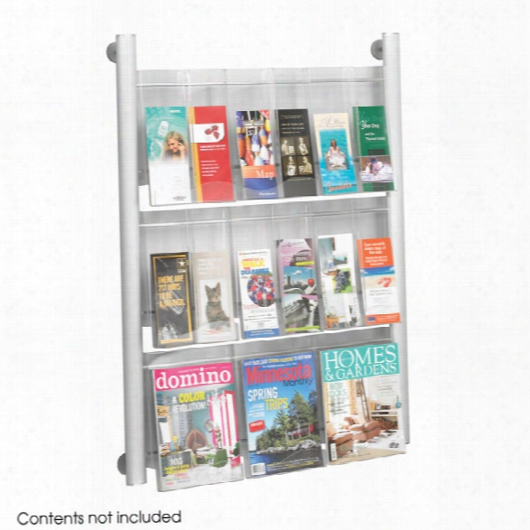 "Luxeâ""¢ Magazine Rack - 9 Pocket By Safco Office Furniture"