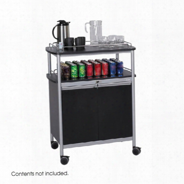 Mobile Beverage Cart By Safco Office Furniture