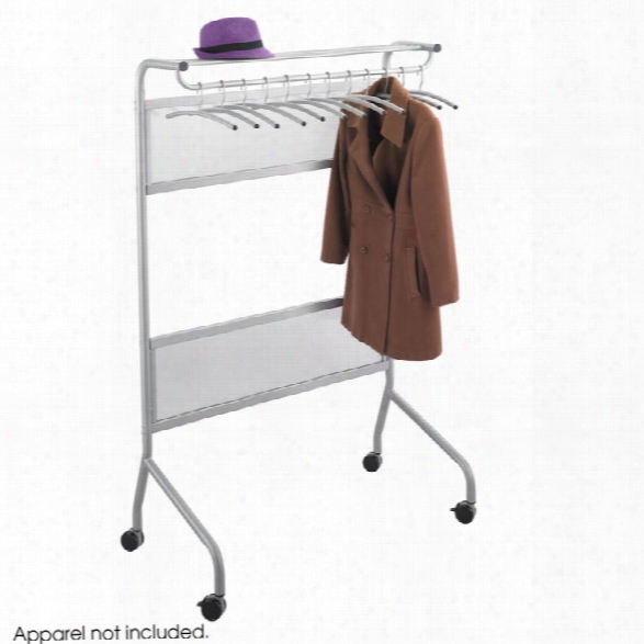 Mobile Garment Rack By Safco Office Furniture