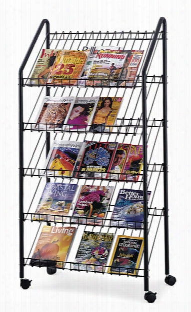 Mobile Literature Rack By Safco Office Furniture