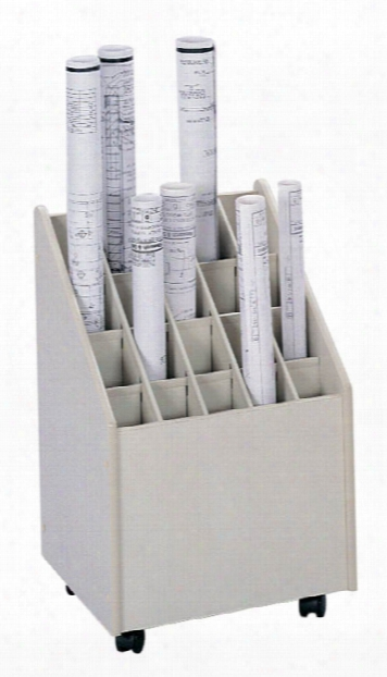 Mobile Roll File, 20 Compartment By Safco Office Furniture