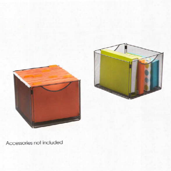 "Onyxâ""¢ Mesh Cube Bins (qty. 2) By Safco Office Furniture"