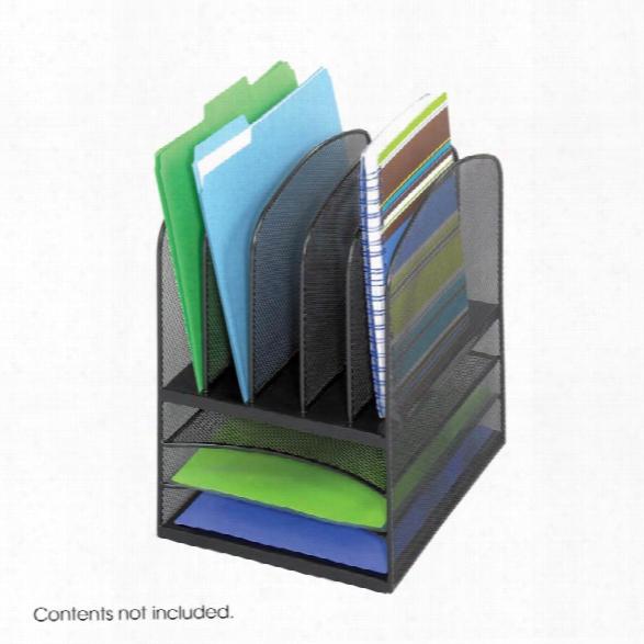 "Onyxâ""¢ Mesh Desk Organizer 3 Horizontal 5 Upright By Safco Office Furniture"