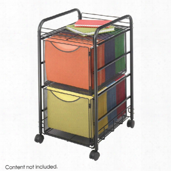 """Onyxâ""""¢ Mesh File Cart With 2 File Drawers By Safco Office Furniture"""