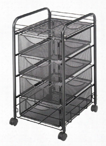 "Onyxâ""¢ Mesh File Cart With 4 Drawers By Safco Office Furniture"