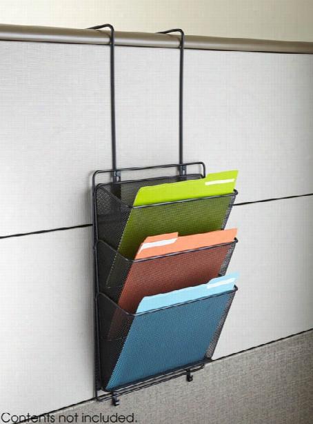 "Onyxâ""¢ Panel Organizer Triple Basket By Safco Office Furniture"