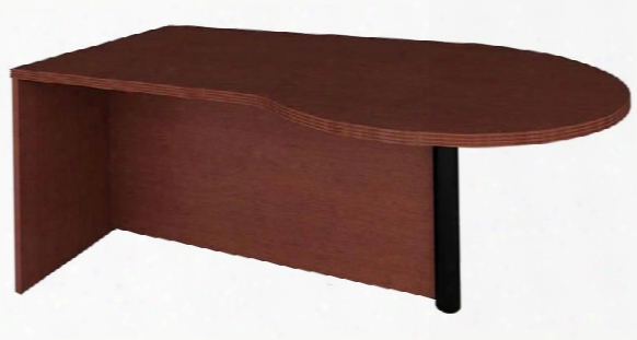 Peninsula Desk With Metal Leg By Rudnick