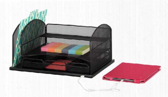 "Powered Onyxâ""¢ Organizer With 3 Drawers By Safco Office Furniture"