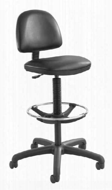 Precision Vinyl Extended-height Chair With Footring By Safco Office Furniture