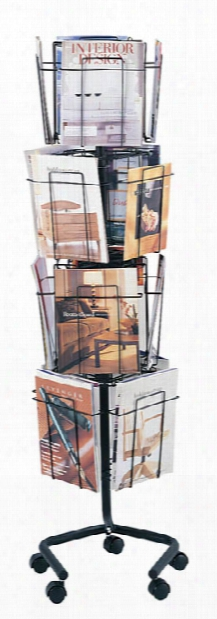 Rotary Floor Display By Safco Office Furniture