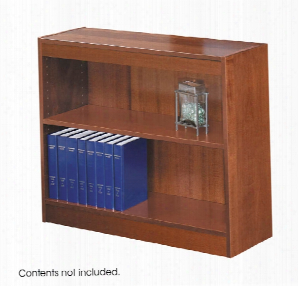 Square-edge Veneer Bookcase - 2 Shelf By Safco Office Furniture