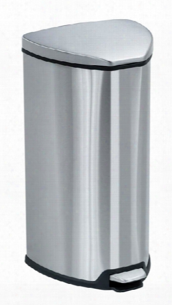 Stainless Step-on 7 Gallon Receptacle By Safco Office Furniture