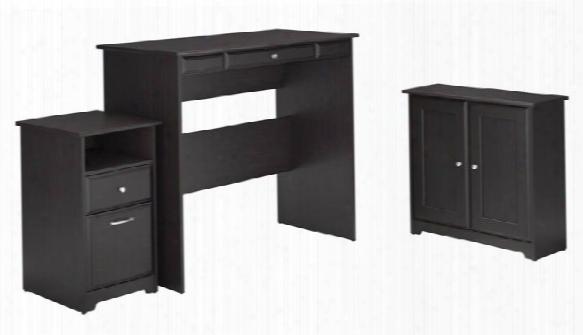 Standing Desk, Storage Cabinet, 2 Drawer Pedestal By Bush