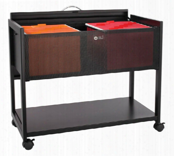Steel Mobile File W/locking Top By Safco Office Furniture