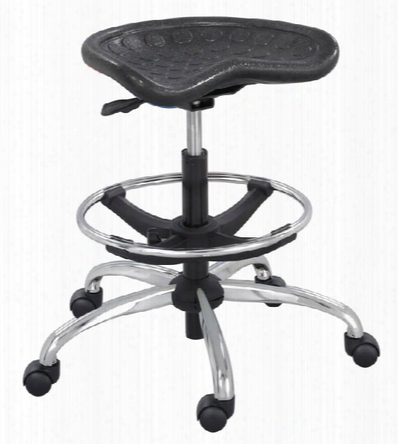 Stool With Chrome Base By Safco Office Furniture