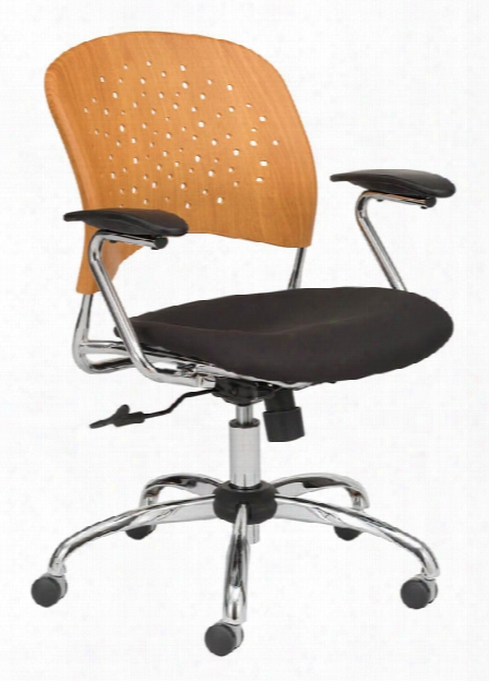 Task Chair Round Plastic Wood Back By Safco Office Furniture