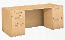 """72""""W x 30""""D Office Desk with 2 and 3 Drawer Pedestals by Bush"""