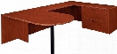 Bullet Lateral File Executive U Shaped Desk by DMI Office Furniture