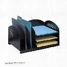 Combination Rack 3 Upright and 3 Horizontal by Safco Office Furniture