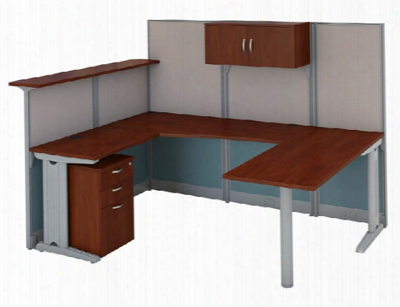 U-shaped Reception Desk With Storage By Bush