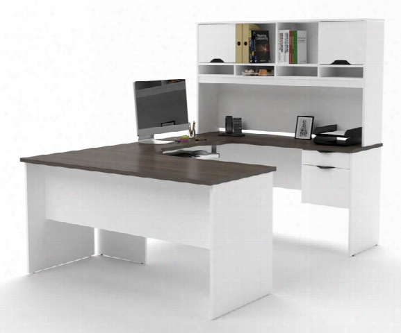 U Shaped Workstation By Bestar